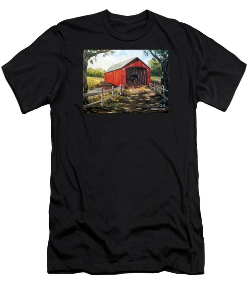 Amish Country Men's T-Shirt (Slim Fit) by Lee Piper