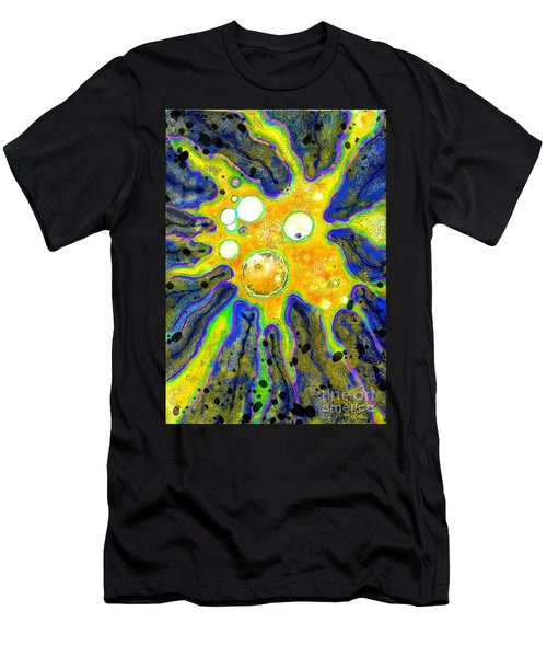 Men's T-Shirt (Slim Fit) featuring the painting Amoeba Senescent by Carol Jacobs