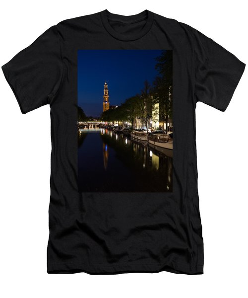 Amsterdam Blue Hour Men's T-Shirt (Athletic Fit)