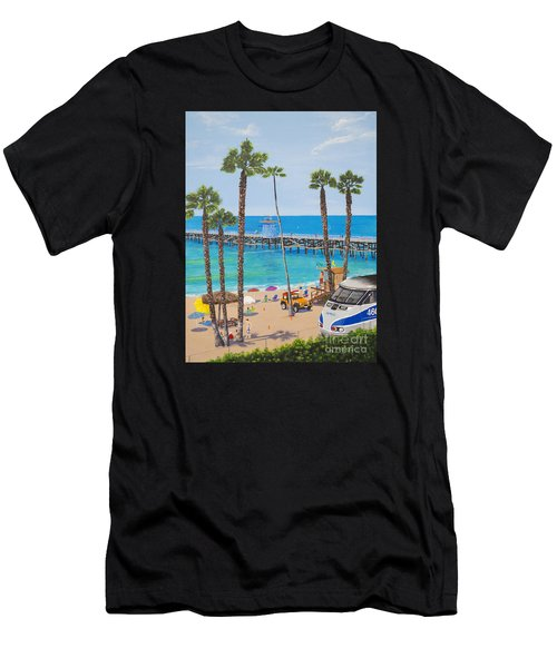 Men's T-Shirt (Athletic Fit) featuring the painting Perfect Beach Day by Mary Scott
