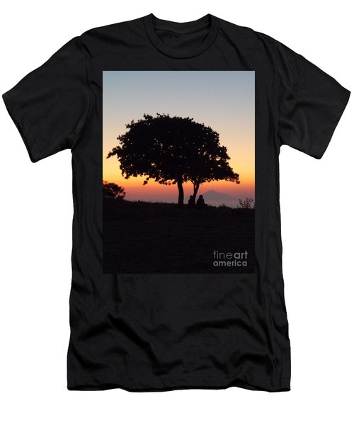 Men's T-Shirt (Slim Fit) featuring the photograph An African Sunset by Vicki Spindler