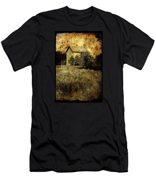 Men's T-Shirt (Slim Fit) featuring the photograph An Aged Photo Of The Old Waterloo Mill by Janice Adomeit