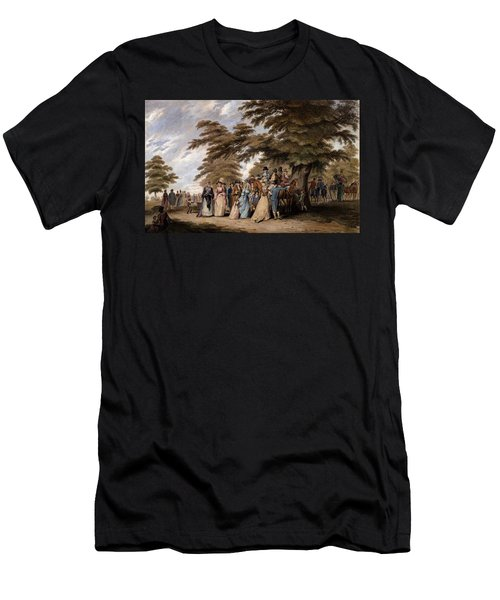 An Airing In Hyde Park, 1796 Men's T-Shirt (Slim Fit) by Edward Days