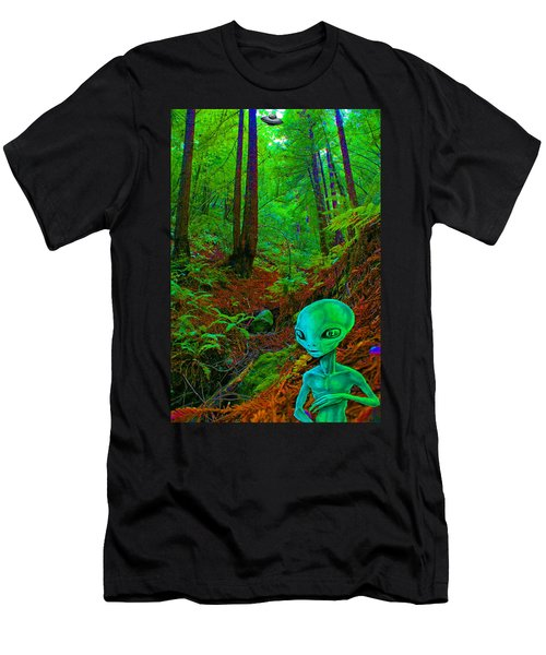 An Alien In A Cosmic Forest Of Time Men's T-Shirt (Athletic Fit)