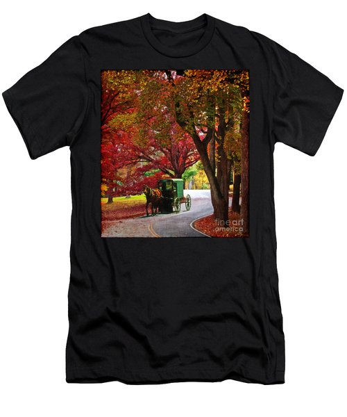 An Amish Autumn Ride Men's T-Shirt (Athletic Fit)