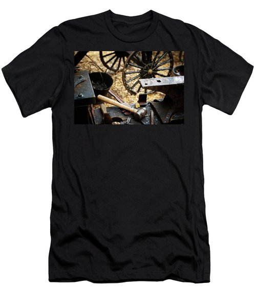 An Anvil, Hammer And Tools In Oldtime Men's T-Shirt (Athletic Fit)