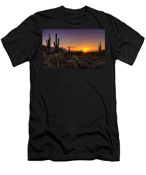 An Arizona Winter Sunrise Men's T-Shirt (Athletic Fit)