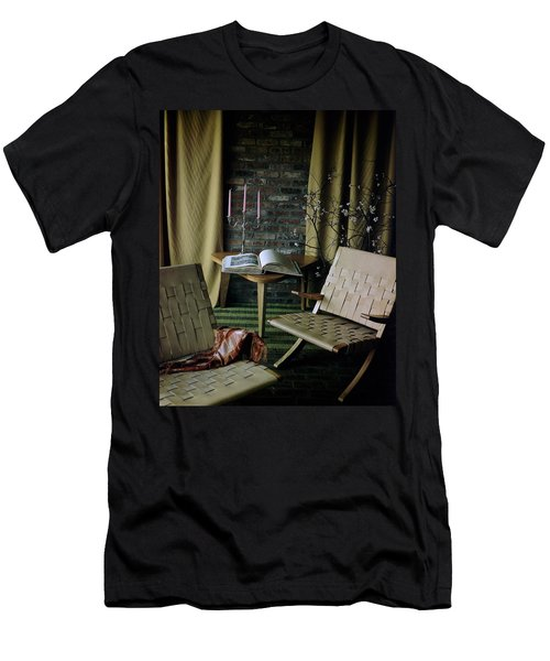 An Armchair Beside A Table And An Old Book Men's T-Shirt (Athletic Fit)
