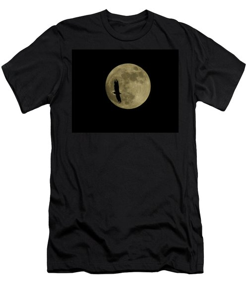 An Eagle And The Moon Men's T-Shirt (Slim Fit) by Mark Alan Perry