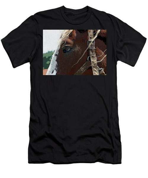 An Old Friend Men's T-Shirt (Slim Fit) by Yvonne Wright