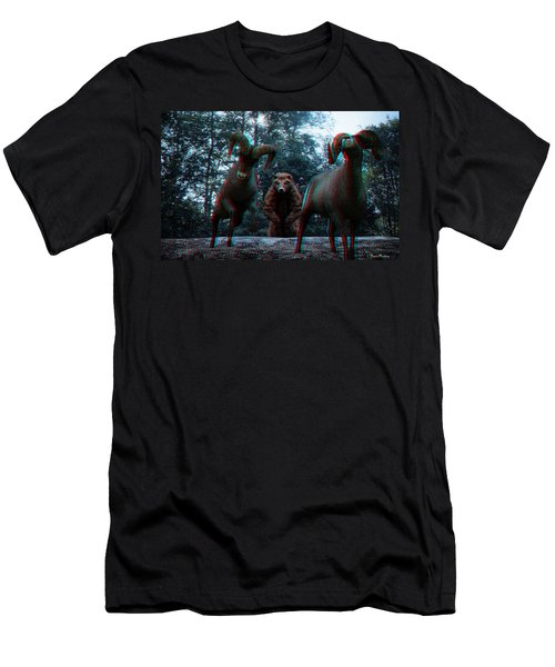 Anaglyph Wild Animals Men's T-Shirt (Athletic Fit)