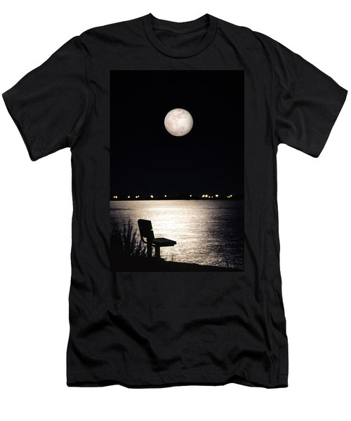 And No One Was There - To See The Full Moon Over The Bay Men's T-Shirt (Athletic Fit)