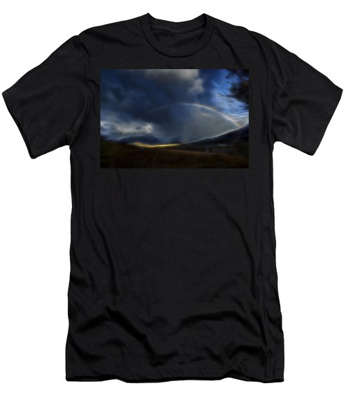 Men's T-Shirt (Slim Fit) featuring the digital art Andean Rainbow by William Horden