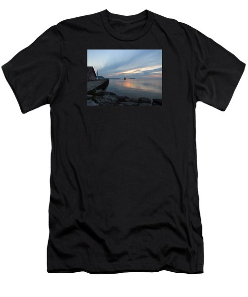 Anderson Dock Sunset Men's T-Shirt (Athletic Fit)