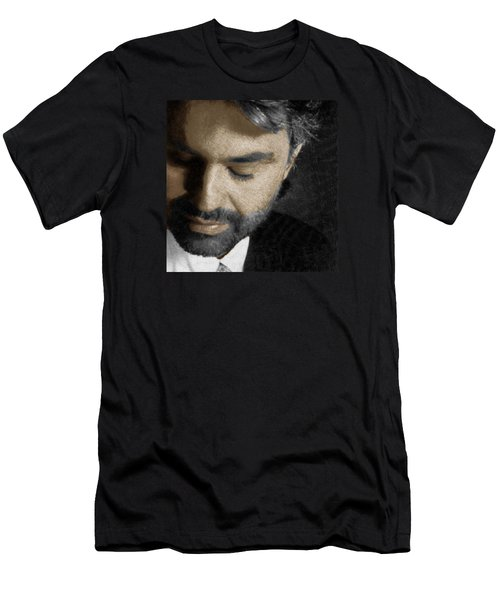 Andrea Bocelli And Square Men's T-Shirt (Athletic Fit)