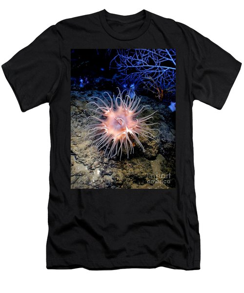 Men's T-Shirt (Slim Fit) featuring the photograph Anemone Sea Life Sea Ocean Water Underwater by Paul Fearn