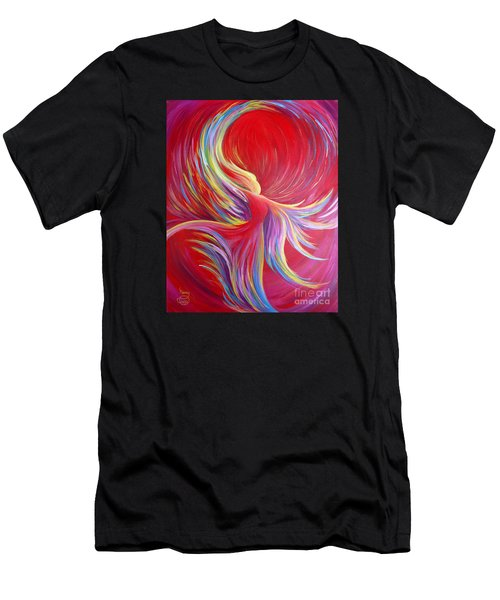 Men's T-Shirt (Athletic Fit) featuring the painting Angel Dance by Nancy Cupp