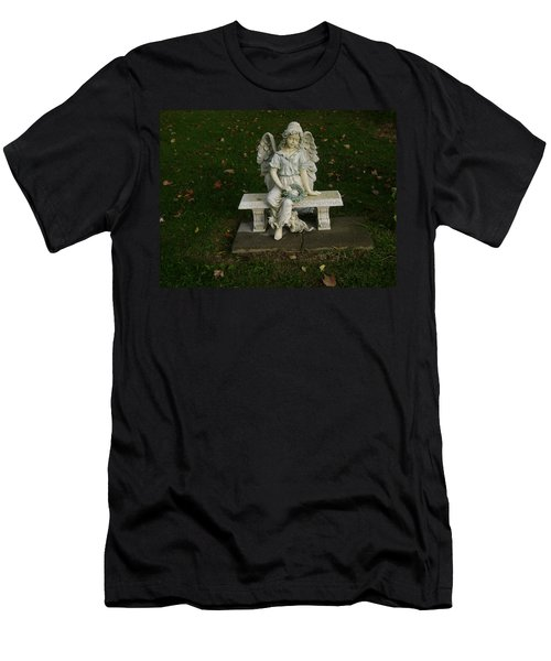 The Angel Is Watching Over Men's T-Shirt (Athletic Fit)