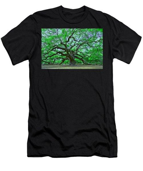 Angel Oak Men's T-Shirt (Slim Fit) by Allen Beatty
