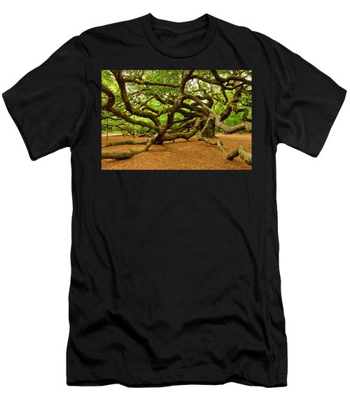 Angel Oak Tree Branches Men's T-Shirt (Athletic Fit)