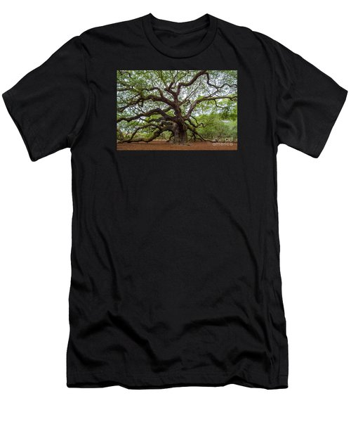 Men's T-Shirt (Slim Fit) featuring the photograph Angel Oak Tree by Dale Powell