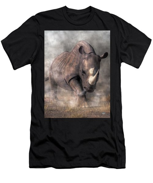 Angry Rhino Men's T-Shirt (Athletic Fit)