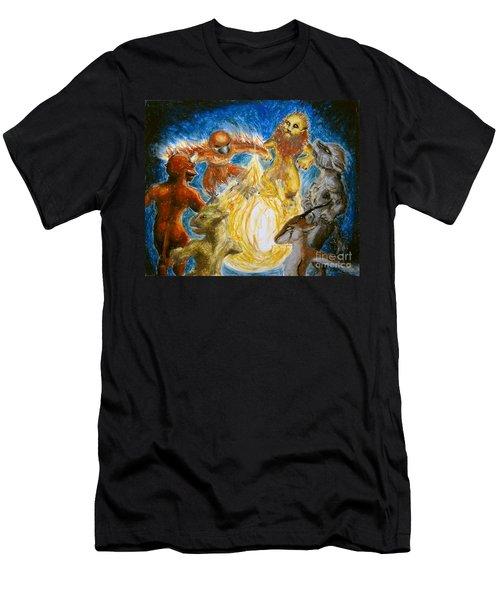 Animal Totem Dancers - Transformed Men's T-Shirt (Athletic Fit)