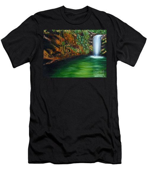 Annadale Waterfall Men's T-Shirt (Athletic Fit)