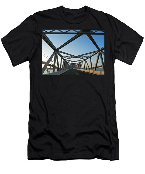 Annapolis Bay Bridge At Sunrise Men's T-Shirt (Slim Fit) by Emmy Marie Vickers