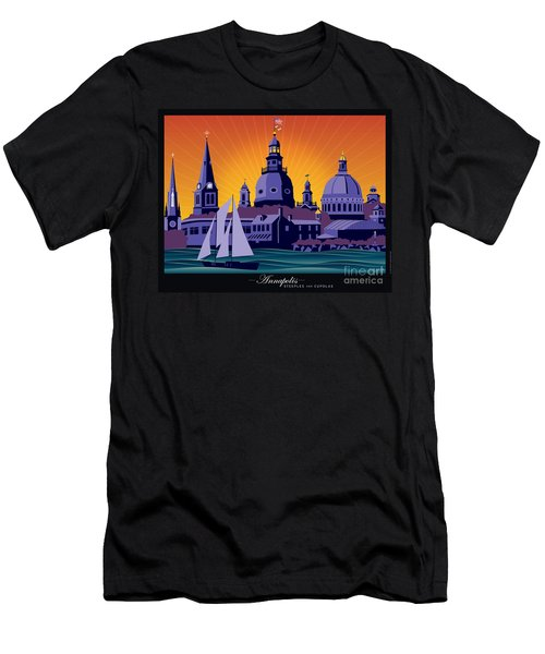 Annapolis Steeples And Cupolas Men's T-Shirt (Athletic Fit)