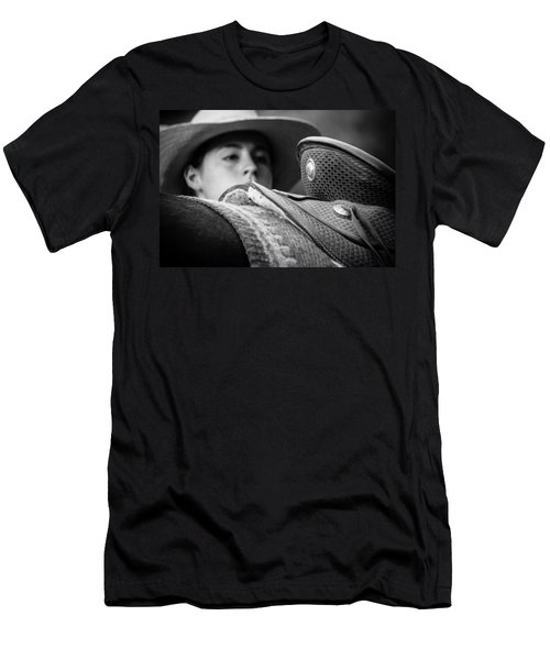 Men's T-Shirt (Slim Fit) featuring the photograph Annie's Saddle by Steven Bateson