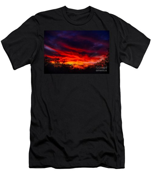 Men's T-Shirt (Slim Fit) featuring the photograph Another Tucson Sunset by Mark Myhaver