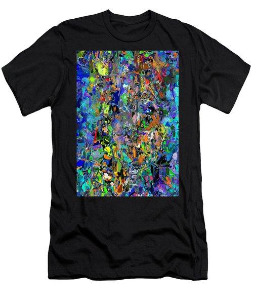 Men's T-Shirt (Slim Fit) featuring the digital art Anthyropolitic 1 by David Lane
