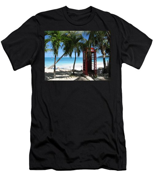 Antigua - Phone Booth Men's T-Shirt (Athletic Fit)