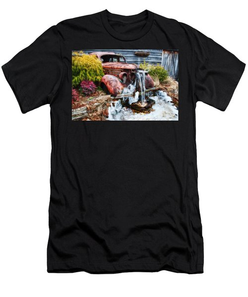 Antique Car Water Fountain Columbus Georgia Men's T-Shirt (Athletic Fit)