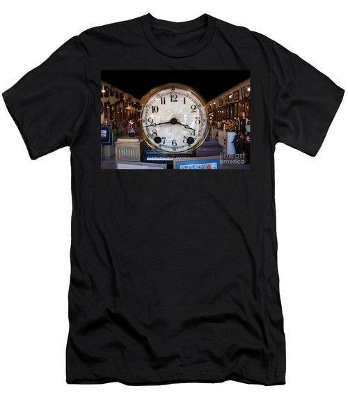 Men's T-Shirt (Slim Fit) featuring the photograph Antique Clock Store by Gunter Nezhoda