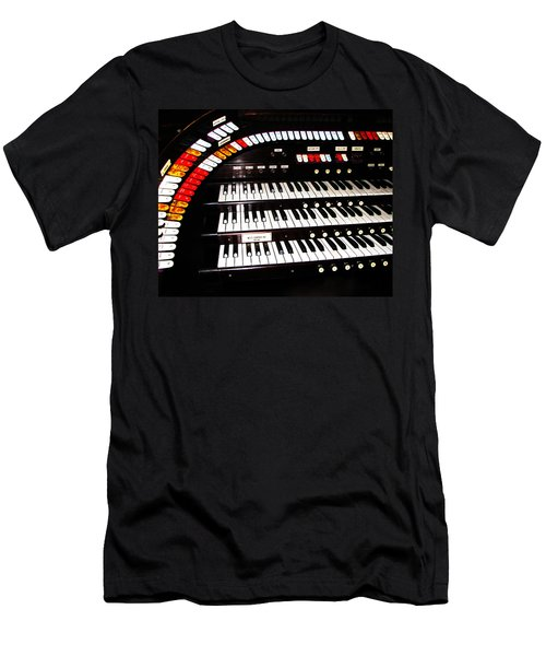 Men's T-Shirt (Slim Fit) featuring the photograph Antique Organ by Marcia Socolik