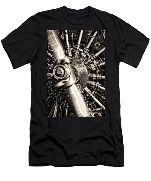 Antique Plane Engine Men's T-Shirt (Athletic Fit)