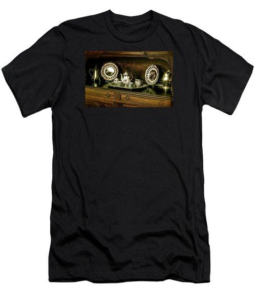 Antique Tea Set Men's T-Shirt (Slim Fit)