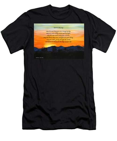 Apache Blessing-sunrise Men's T-Shirt (Athletic Fit)