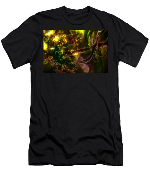 Men's T-Shirt (Slim Fit) featuring the digital art Apocryphal - Tilting From Beastback by Richard Thomas