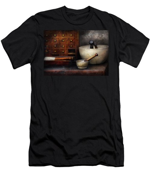 Apothecary - Pestle And Drawers Men's T-Shirt (Slim Fit) by Mike Savad