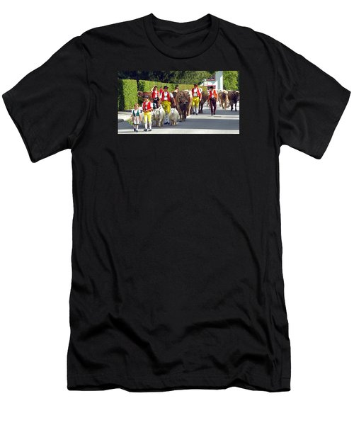 Appenzell Parade Of Cows Men's T-Shirt (Athletic Fit)