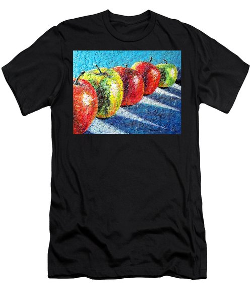 Apple A Day Men's T-Shirt (Athletic Fit)