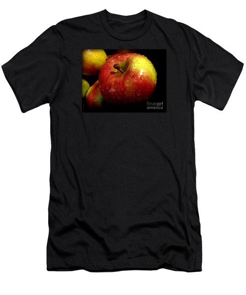 Apple In The Rain Men's T-Shirt (Slim Fit) by Miriam Danar