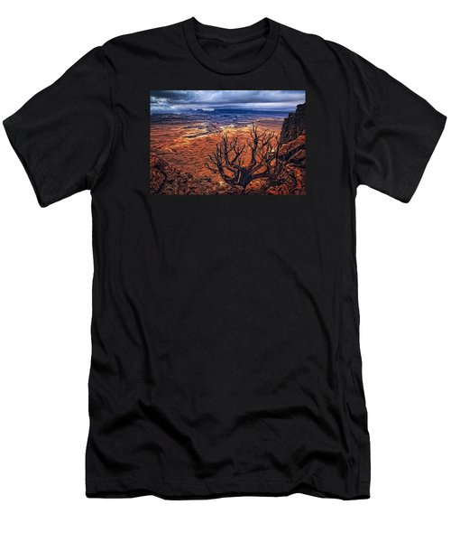 Men's T-Shirt (Slim Fit) featuring the photograph Approaching Storm by Priscilla Burgers
