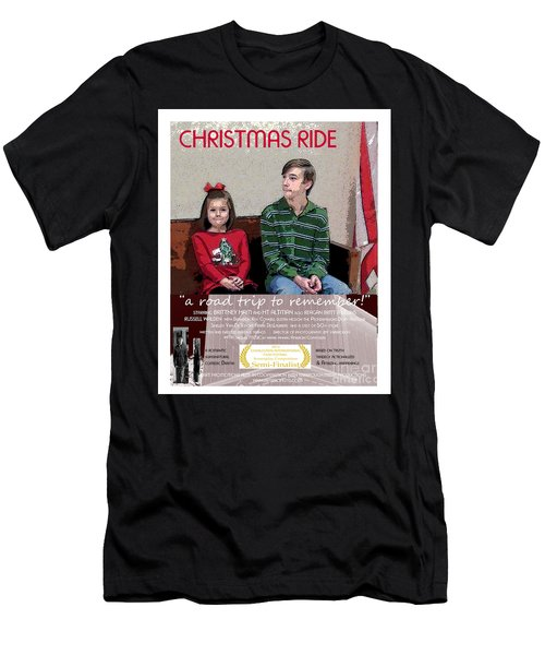 April And Josh In Christmas Ride Men's T-Shirt (Athletic Fit)
