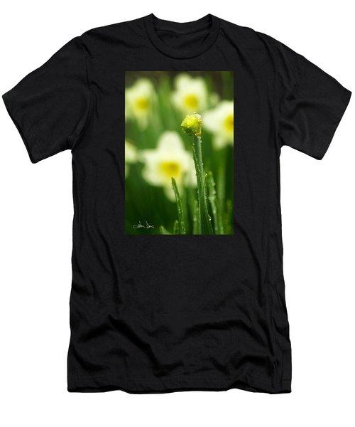 April Showers Men's T-Shirt (Slim Fit) by Joan Davis