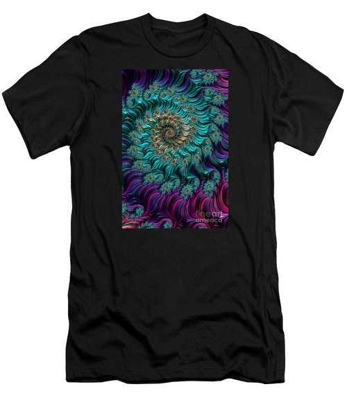 Aqua Swirl Men's T-Shirt (Slim Fit)