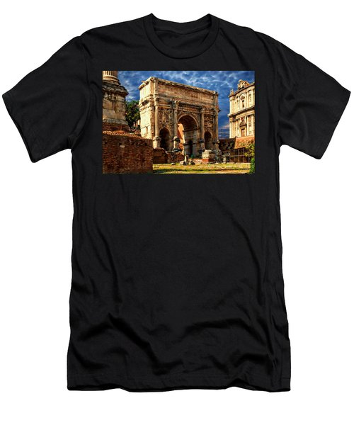 Arch Of Septimius Severus Men's T-Shirt (Slim Fit) by Anthony Dezenzio